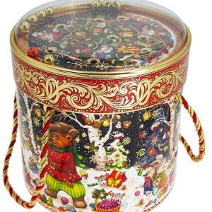 Новогодний подарок «Туба с игрой» шарики 1000 граммов