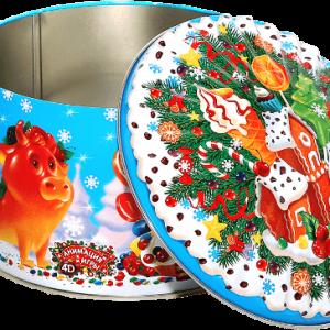 Новогодний подарок «Мармеладный бычок» жесть