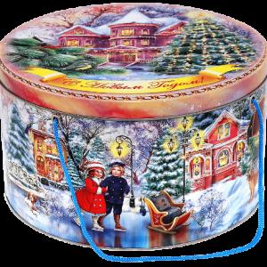 Новогодний подарок жесть «Закат» 2500 граммов