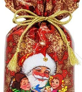 Новогодний подарок мешочек «В гостях у Деда Мороза» 1000 граммов
