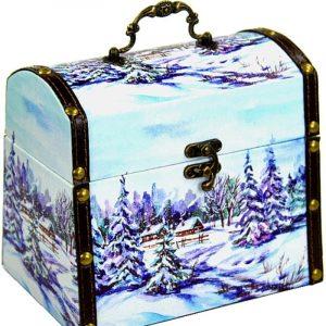 Новогодний подарок сундук «Иней» 2000 граммов