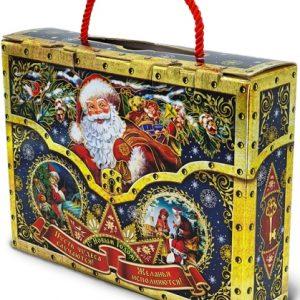 Новогодний подарок чемоданчик»Сюрприз» 1000 граммов