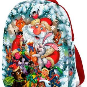 Новогодний подарок рюкзак «Дед Мороз» 2000 граммов