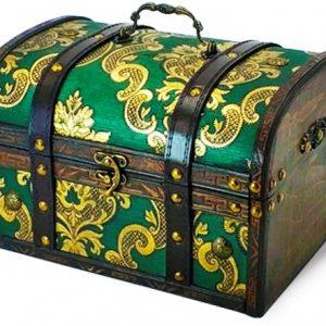 Новогодний подарок сундук «Изумрудный» 2500 граммов