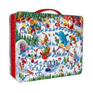 Новогодний подарок жесть кейс «Гномы» 1500 граммов