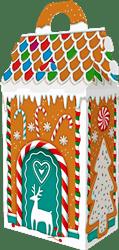 Новогодний подарок Пряничный домик