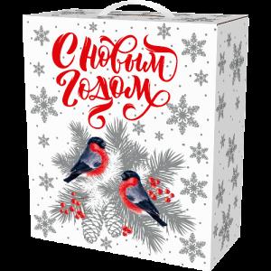 Новогодний подарок Коробка Большая Подарочная «Серебро» 4500 граммов